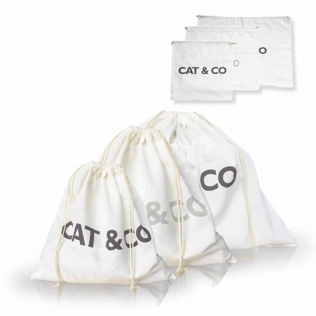 Cat&Co - poches en coton fin