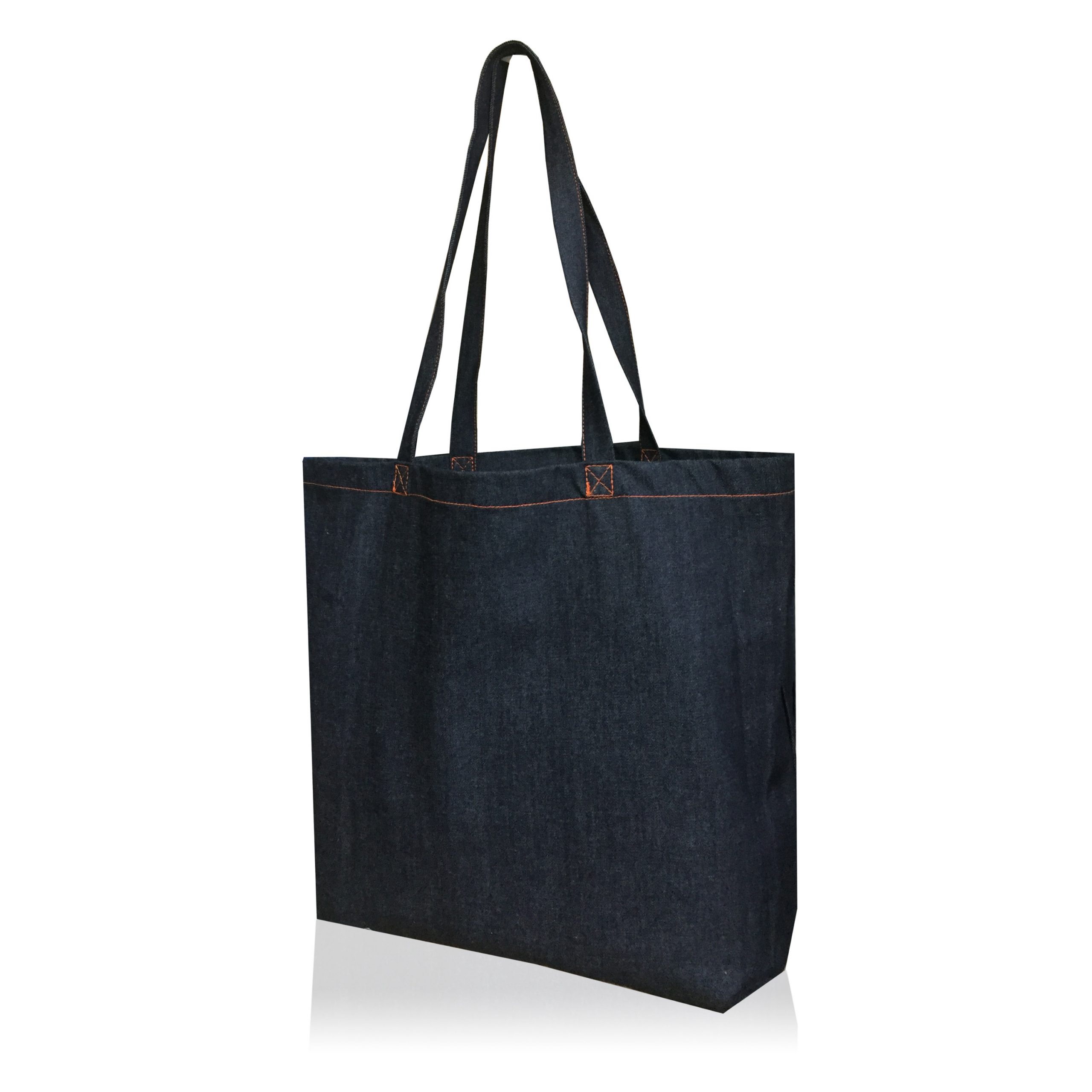 Tote bag en denim avec fond