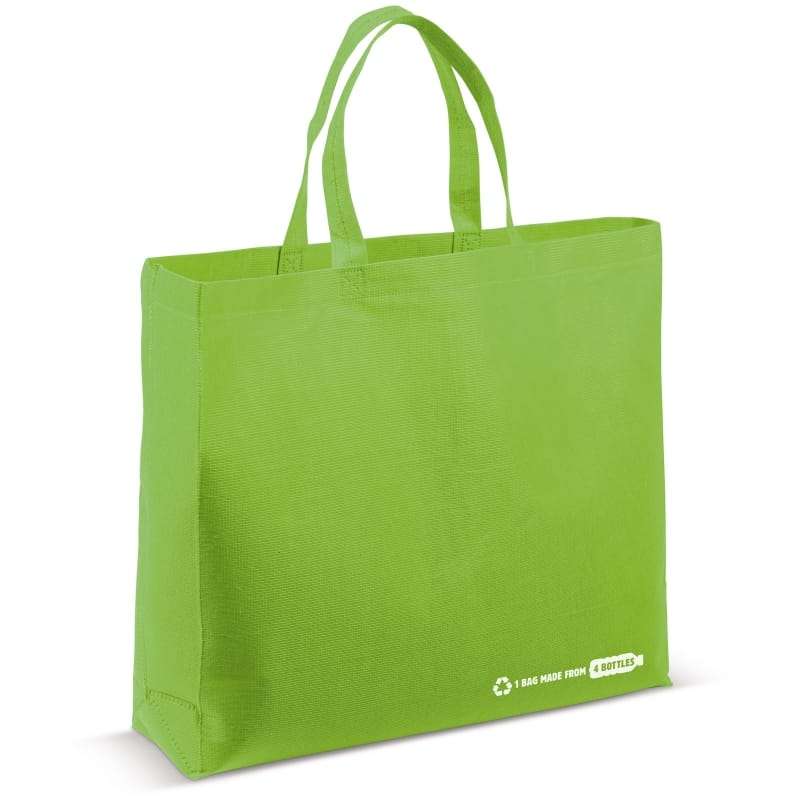 Shopper RPET lime green