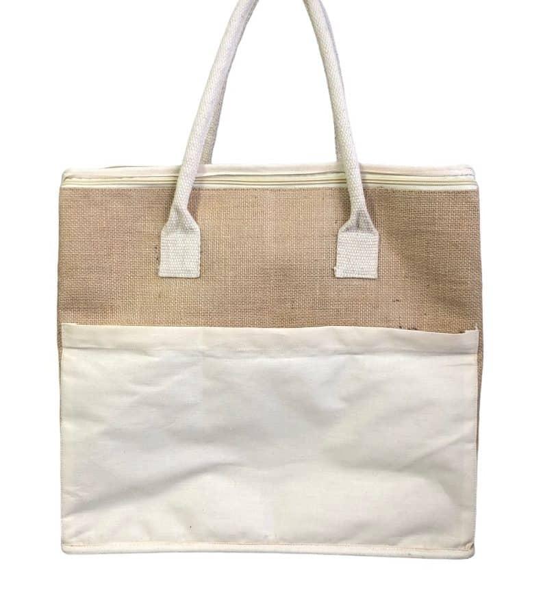 Shopper isotherme en jute et coton